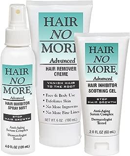 Hair No More Advanced Hair Inhibitor 2 Step System (Hair No More Cream, Spray & Gel)