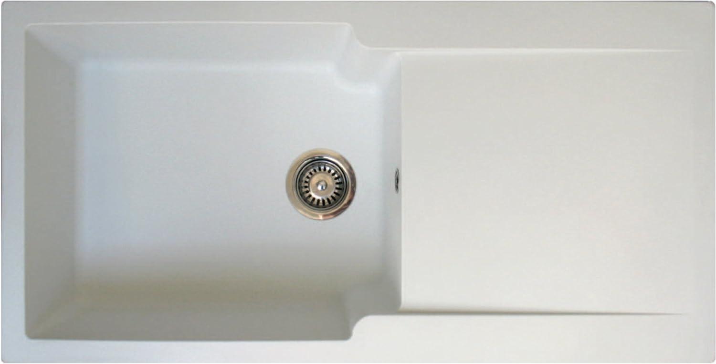 DAV KITCHEN PTOLEDO1XBLP Sink Set with Tap, White