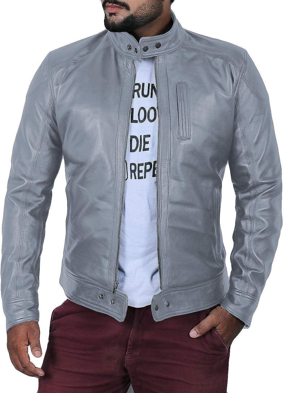 Laverapelle Men's Genuine Lambskin Leather Jacket (Black, Racer Jacket) - 1501618