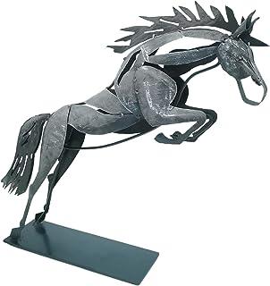 Schreiblichkeit Sculpture en métal – Cheval Arod – 31 x 36 x 8 cm – Statue comme décoration – Figurine cadeau pour les ama...