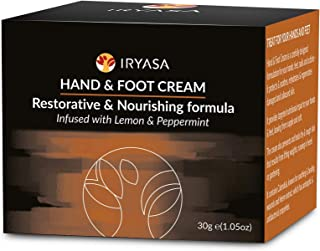 Iryasa Hand and Foot Cream - All Natural Foot Cream for Dry Cracked Feet - Vegan Hand Cream for Dry Cracked Hands - Callus...