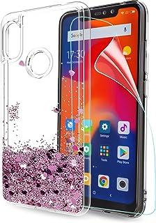 26c61827617 LeYi Funda Xiaomi Redmi Note 6 Pro Silicona Purpurina Carcasa con HD  Protectores de Pantalla,