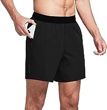 "BALEAF Men's 7"" Workout Training Shorts Running Athletic Bodybuilding Drawstring Phone Pocket No Liner"