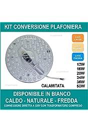 4200K LineteckLED/® P22-36N Plafoniera Led Ultraslim 120cm 48W Luce Naturale 3600 Lumen