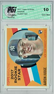 Sponsored Ad - Aaron Judge 2017 Topps Archives #RS-9 1960 Throwback SP Rookie Card PGI 10 - Baseball Slabbed Rookie Cards