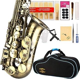 سری Glory High Grade Antique PR2 ، E Flat Alto Saxophone با 11reeds ، 8 کوسن بالشتک ، کیس