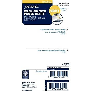 Filofax Mini Woche pro Seite Englisch 2021 Tagebuch