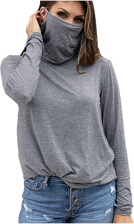 Women Hiking Long Sleeve Shirt with Face Cover Neck Gaiter UPF 50+ Lightweight Quick Dry SPF Fishing Running Hoodie
