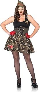 Costumes Plus-Size 2Pc.Combat Cutie Includes Dress and Hat