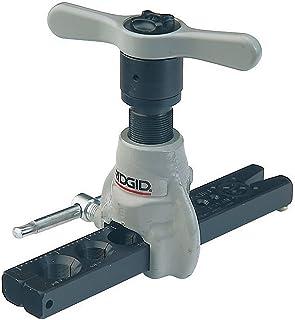 RIDGID 83037 458R Herramienta de abocinado a 45° tipo trinquete SAE extendida para tuberías de 3 mm a 19 mm, Herramienta de abocinado de precisión tipo trinquete