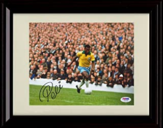 Framed Pele Autograph Replica Print - Team Brazil - World Cup