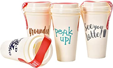 Reusable coffee cup with lids, Plastic Travel Cups 8 pcs -16oz
