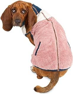 Bond & Co. Zip-up Color Block Pink Dog Jacket