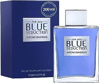 Antonio Banderas Perfumes - Blue Seduction - Eau de Toilette Spray for Men - Woody, Fresh Oriental, Aromatic Fougère Fragrance - 6.7 Fl. Oz
