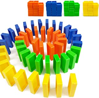 Building and Stacking Toy Blocks Domino Set,Domino Train Extension Accessories,80pc Colorful Building Blocks,Infinite Imag...