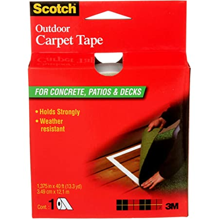 ShurTape Indoor White Outdoor Carpet Tape 1.41-in x 42-ft