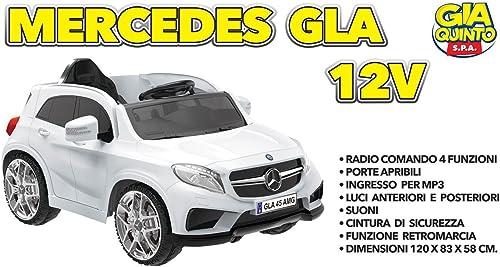 descuento de bajo precio GIAQUINTO GIAQUINTO GIAQUINTO GIOCATTOLI s.r.l. Mercedes GLA Bianco 12 Volts RADIOCOMANDO  ventas directas de fábrica