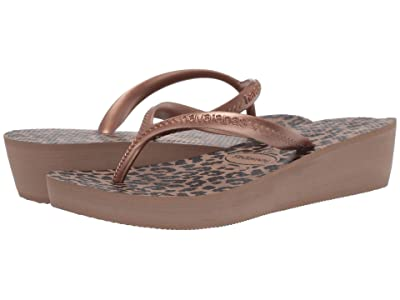Havaianas High Light II Flip Flops (Rose Gold/Metallic Rose Gold) Women
