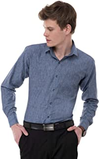 New Neck 100% Cotton Casual Shirts for Men Full Sleeves