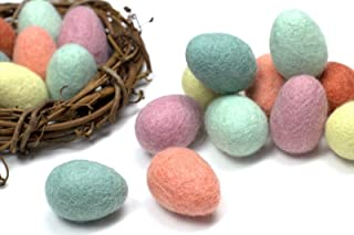 Felted Easter Eggs- Wool Felt Easter Eggs for Spring- Pastel, Decor, Garland, Wreath, Basket, Crafts