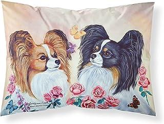 Caroline's Treasures 7272PILLOWCASE Papillion Moisture Wicking Fabric Standard Pillowcase, Large, Multicolor