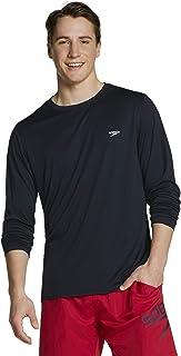 Speedo Men's UV Swim Shirt Basic Easy Long Sleeve Regular Fit
