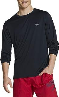 Men's UV Swim Shirt Basic Easy Long Sleeve Regular Fit
