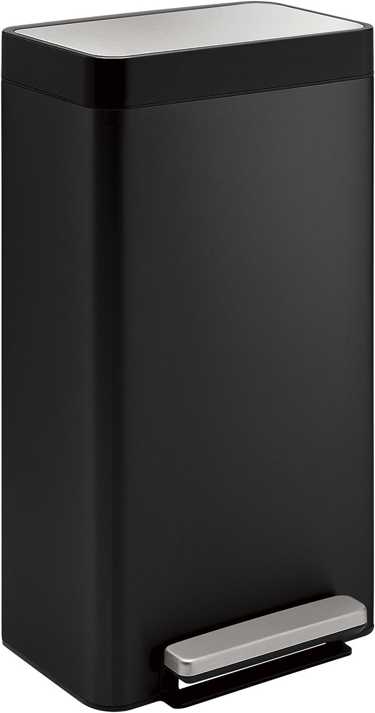 Kohler 20941-BST 8-Gallon Loft Step Trash Can, Black Stainless