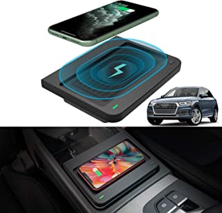 CarQiWireless Wireless Phone Charger Pad Charging for Audi Q5/ SQ5 2018 2019 2020 Center Console Phone Wireless Charging Pad Mat fit for Audi Q5 SQ5 2020 2019 2018 Accessories