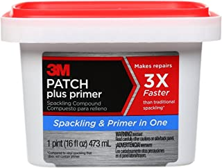 3M PPP-16-BB Patch Plus Primer Lightweight Spackling, 16 fl. oz 1 tub, Gray, 16 Ounce