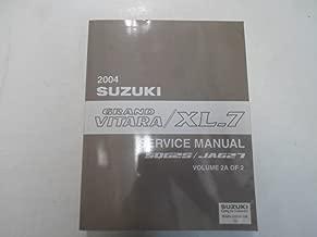 2004 Suzuki Grand Vitara XL7 XL-7 SQ625 JA627 Service Repair Manual Vol. 2A of 2