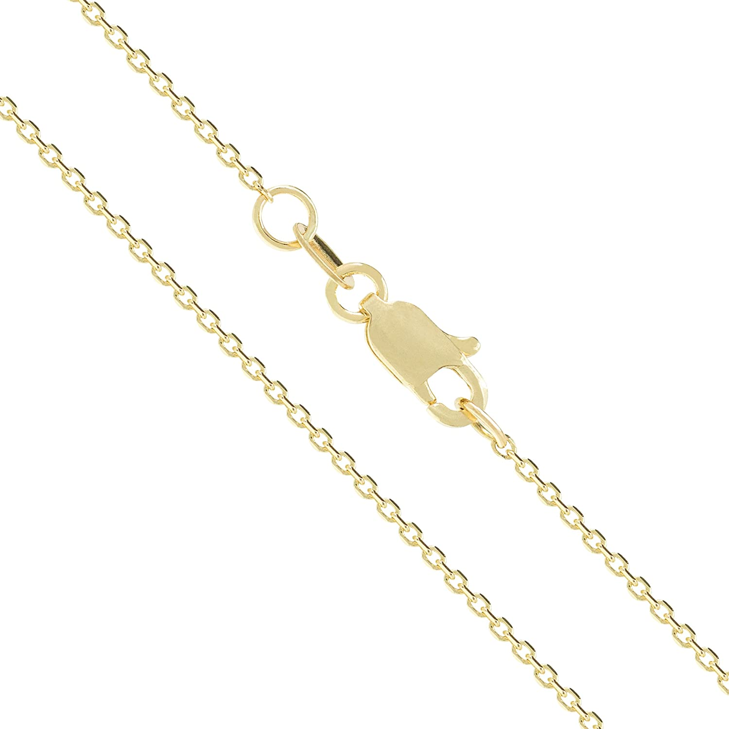 Honolulu Jewelry Company 14K Solid Yellow Gold Cable Chain Necklace