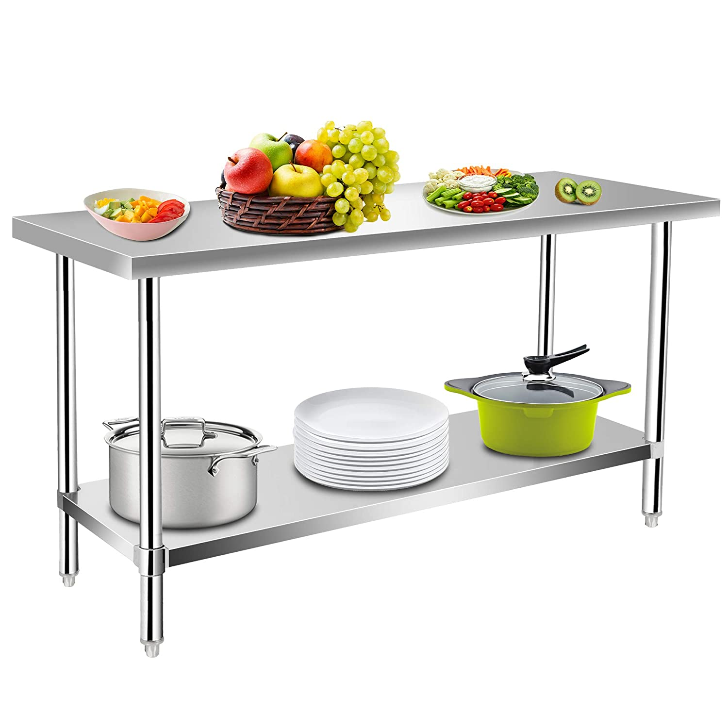 Weekly update Commercial Kitchen Prep Work Table Food cheap Stainless Steel KITMA