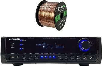 Audioronics 1500 Watt Hybrid Digital Stereo Receiver Amplifier, Enrock 16 Gauge 50 Foot Speaker Wire