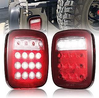 Liteway Led Tail Light Stop Back Up Lights for TJ JK Truck Trailer Boat Jeep 2 Pack