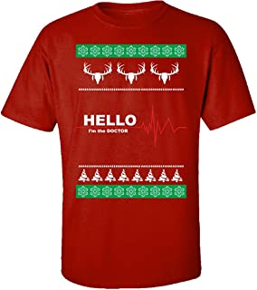 Ugly Christmas Sweater médico medicina regalo – Adulto camiseta