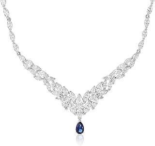 SWAROVSKI Women's Louison Necklace, White, Rhodium plated