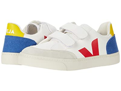 VEJA Kids Small V-12 Hook and Loop (Little Kid/Big Kid) (Extra White/Multicolor/Indigo) Kid