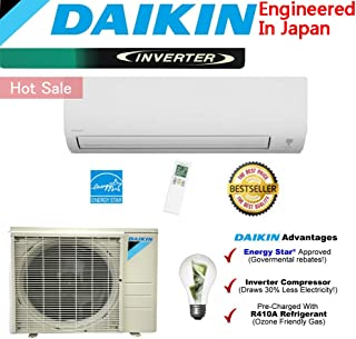 Daikin 12,000 BTU Ductless Mini Split Air Conditioner 2015 / High Efficiency/High Energy Saving/High Seer Inverter Air Conditioner Heating, Cooling, Dehumidification, Ventilation 1 TON