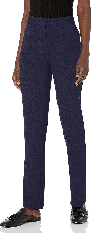 Rafaella Women's Curvy Fit Short InseamGabardine Slim Leg Pant