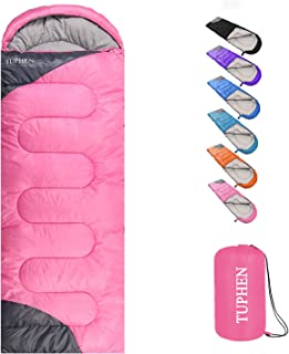 TUPHEN- Sleeping Bags for Adults Kids Boys Girls Backpacking Hiking Camping Cotton Liner, Cold Warm Weather 4 Seasons Wint...