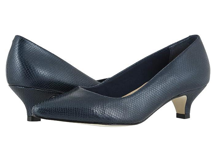 Walking Cradles  Bobbi (Navy/Snakeskin Leather) Womens  Shoes