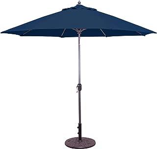 Galtech 9' Aluminum Auto Tilt Sunbrella Market Umbrella
