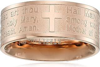 steeltime 18k gold plated hail mary prayer ring