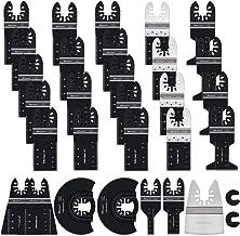 Bionso 31 PCS Oscillating Saw Blades, Premium Multitool Blades Kit for Wood Metal..
