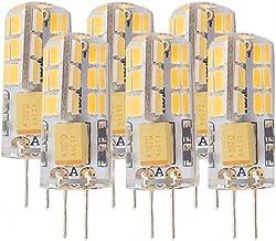 Ashialight LED G4 Light Bulbs-Daylight12 Volt LEDG4 Bi-pin BaseAC/DC 12V Equal 20 Watt Halogen Bulb Replaces T3/T4 JC Type...