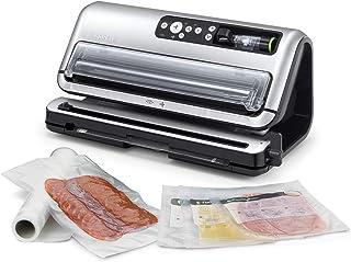 FoodSaver machine sous vide automatisé et professionnel avec compartiment de rangement pour rouleau et cutter, fonction ma...