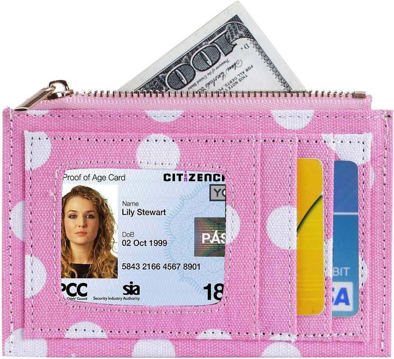 HUA ANGEL Slim Minimalist Wallet - Floral Printed Front Pocket Slim Wallet Thin Credit Card Holder for Men and Women