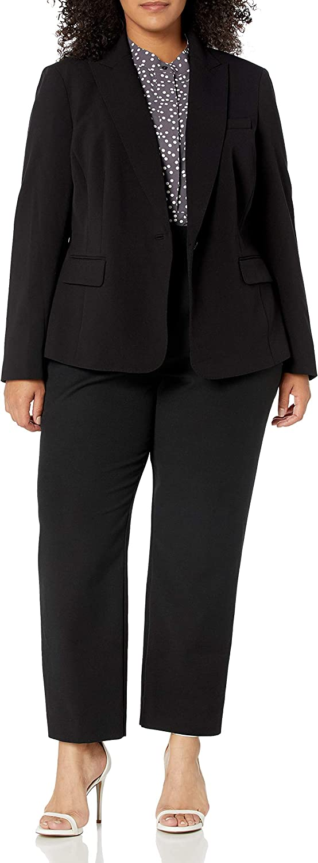 Anne Klein Women's Plus Size 1 Button Jacket