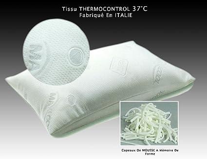 Cuscino A Memoria Di Forma Fornito Con Tessuto Thermocontrol 37 C Fabbricato In Italia Viscoelastique